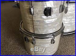 Teh Wmp vintage ludwig wmp white marine pearl drum set 24 18 14 13 12 10