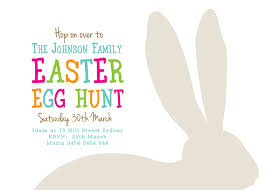 printable custom easter egg hunt invitation bunny ears coco