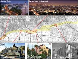 Santa Monica Map New Map Of Hollywood Fault Released The Trembling Earth Agu