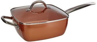 batterie de cuisine cuivre 4 pcs non bâton de cuivre batterie de cuisine poêle à frire avec