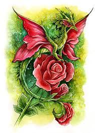 Fairy And Flower Tattoo Designs Red Rose Fairy Dragon By Trollgirl On Deviantart Art Pinterest