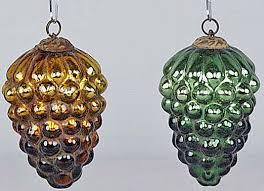9 antique ornaments merry