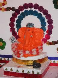 around the world home made paper mache ganpati idol
