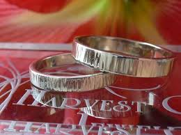 maine wedding bands ribbed white gold wedding bands made to order by harvest gold