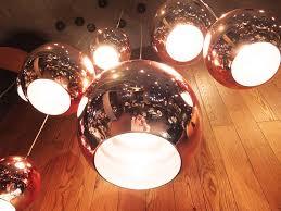 tom dixon copper shade pendant light mirror ball glass pendant