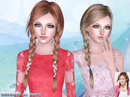 sims 3 custom content hair the sims resource tsr side ponytails hair 163 by skysims sims