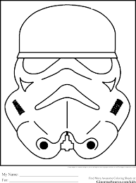 star wars colouring pages stormtroopers mask coloring pages