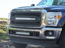 Ford Raptor Led Light Bar by Rigid Ford F 250 11 16 Grille With 30 U2033 Rds Series Led Light Bar