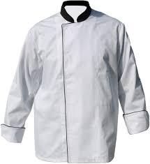 vetement cuisine pas cher veste de cuisine blanche passepoil noir manches longues fabrication