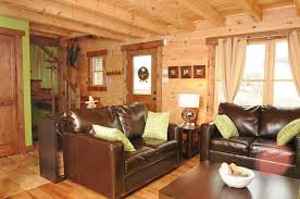 small log home interiors modern style small log home log style blue living room furniture