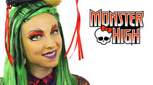Monster High Doll Halloween Costumes by Jinafire Long Monster High Makeup Tutorial Youtube