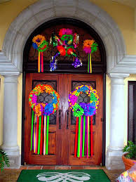 fiesta decor for front door the perfect quinceanera or sweet