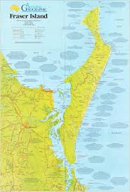 Double Map Fraser Island Map Australian Geographic