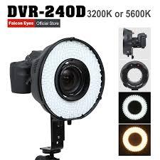 ring light for video camera falconeyes led ring light panel dimmable selfie lighting video film