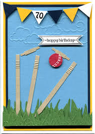 dad card ideas handmade card cricket themed 70th birthday card made especially