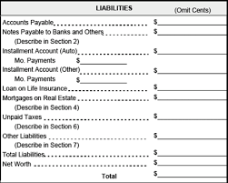 personal financial statement worksheet worksheets