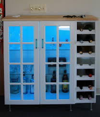 ikea kitchen cabinet glass shelves how to combine ikea items to build your own wine rack