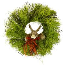twig wreath twig wreath with rabbit traditional accents and