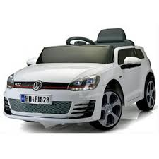 white volkswagen golf kids licensed vw golf gti hatch sport 12v electric battery