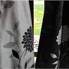 Black And White Thermal Curtains Cool Black And White Thermal Curtains Ideas With Black Jacquard