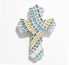 personalized crosses christening gift godchild gift mosaic cross baptism cross