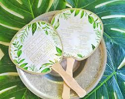 Fan Kits For Wedding Programs Wedding Fans Etsy