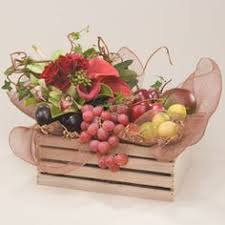 send fruit bouquet charming basket filled with orchard fresh apples oranges and