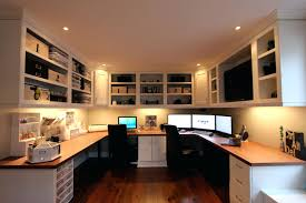 Home Office With Two Desks Interior And Exterior Office Design Two Person Home Office Two