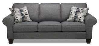 Black And Grey Sofa Set Drake Sofa Grey Leon U0027s