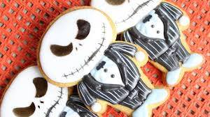 jack skellington from the nightmare before christmas cookies