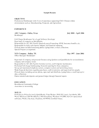 Sample Resume Objectives For Bookkeeper by Cover Letter With A Header