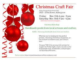 aldergrove u2013 saints joachim u0026 ann christmas craft fair