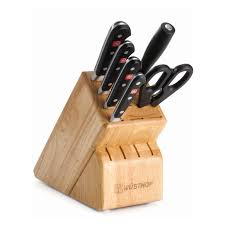 Cutlery Kitchen Knives Wusthof Classic 7 Piece Kitchen Knife Block Set Hayneedle