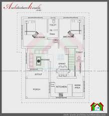 Floor Plan Of Two Bedroom House by 1200 Square Feet House Two Bedrooms Stair Room Architecture Kerala