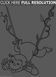 curious george coloring pictures free curious george