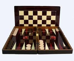 Buy Chess Set Buy Simple Wood Grain Decoupage Folding Backgammon Set With
