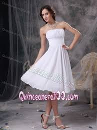 quinceanera damas dresses chiffon white sweet 15 dama dress with ruches in knee length