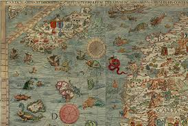 World Map With Seas by What U0027s With The Sea Monsters On Old Maps Mental Floss