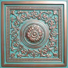 ceiling tiles 24 x24 majesty antique copper patina pvc 20mil ceiling tiles