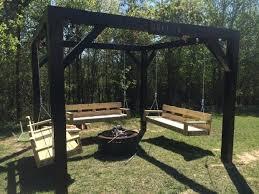 Firepit Swing Swings Around Pit Pit Ideas