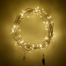 100 warm white led connectable clear cable fairy lights