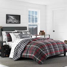 Plaid Bed Sets Gray Willow Plaid Comforter Set Eddie Bauer