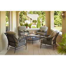Hampton Bay Sectional Patio Furniture - the lynnfield 5 piece patio chat set is a great way to build an