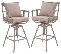 tallahassee outdoor bar stools set of 2 industrial outdoor