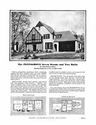 Blueprint House Plans by Sears Riverside English Cottage Style 1930s Kit Homes Small