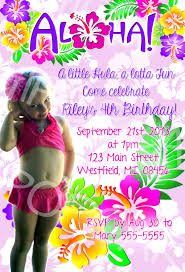 aloha hawaiian luau birthday party invitation traditional