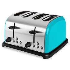 Sheep Toaster Turquoise 4 Slice Toaster Wide Slot 1 Side Bagel Toast Stainless