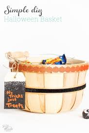 make these simple diy halloween treats baskets