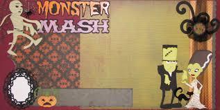 monster mash halloween the avid scrapper monster mash halloween scrapbook pages