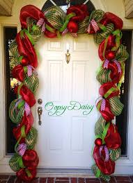 garland door swag cheistmas deco by oopsydaisydesigns